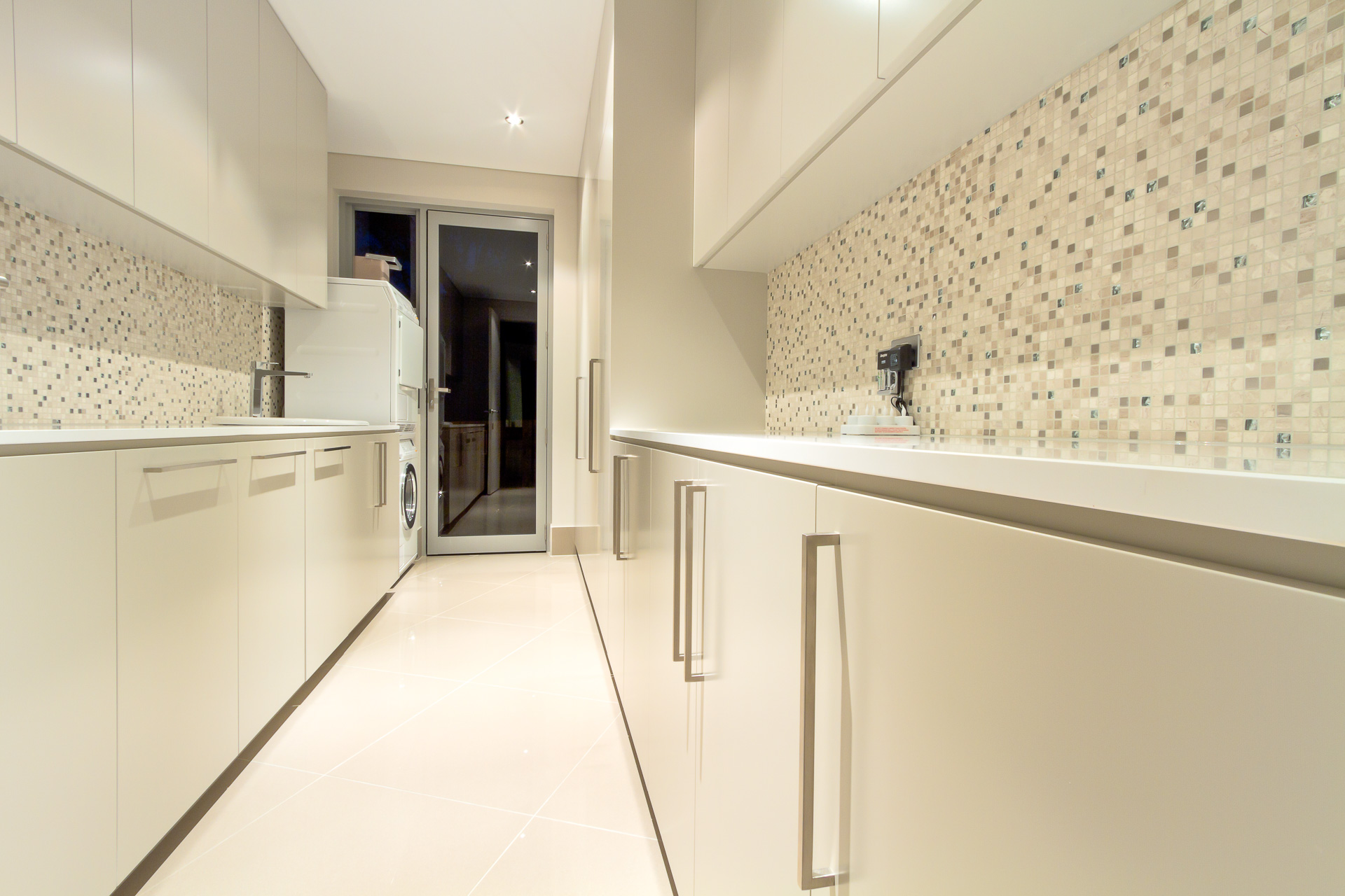 Pantry, butlers pantry, scullery, modern, luxury, 2 pack, Caesarstone, Minka joinery, Coolum