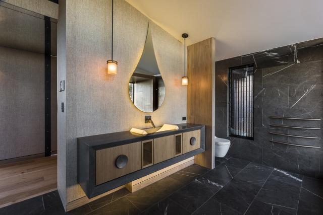 corian vanity, thermoformed basin, backlit basin, custom made basin, designer vanity, luxury bathroom, minka joinery
