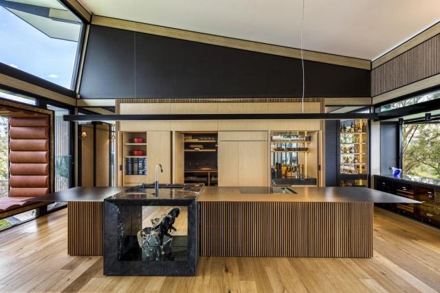 custom made kitchen, millionaire kitchen, sub zero fridge, miele, stainless bench top, marble feature, minka joinery