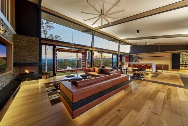 luxury lounge room, fireplace, custom made lounge, designer furniture, minka joinery