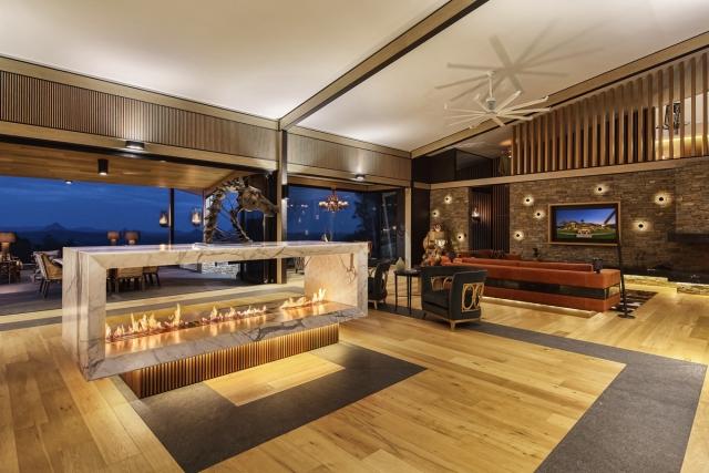 rotating fireplace, award winning fireplace, marble, luxury, best fireplace, designer fireplace, minka joinery