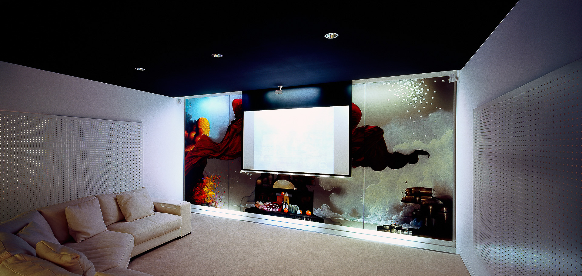 home cinema, cinema, home theater, projector, custom made cinema furniture, interiors, minka joinery