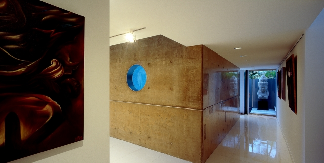 ultramodern house, futuristic, monolithic, polished concrete, sunshine coast, minka joinery
