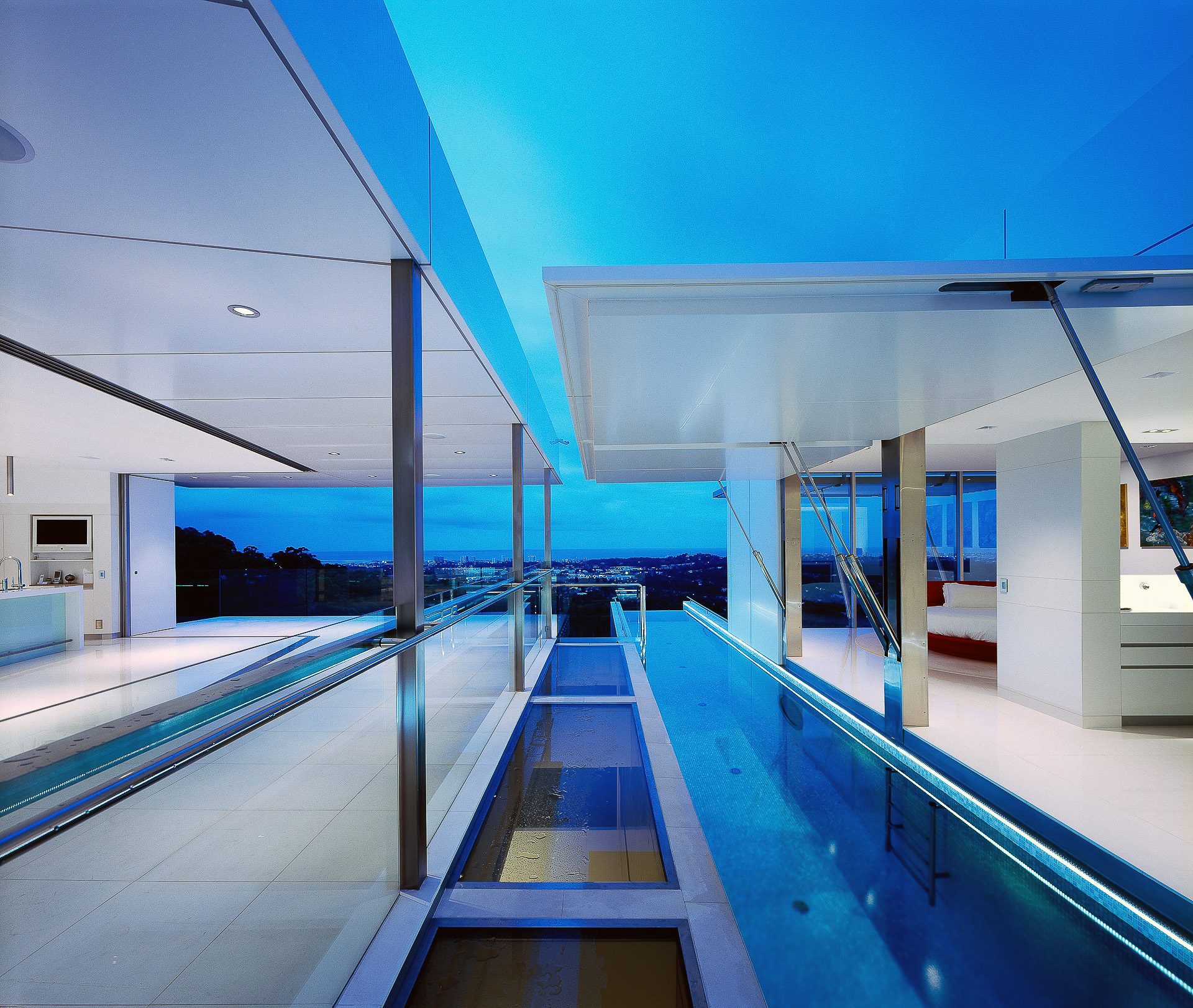 White kitchen, corian, glacier white, luxury kitchen, pool, ultramodern kitchen, minimal kitchen, minka joinery