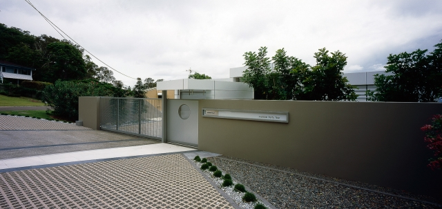 ultramodern house, tilt slab house, cantilevered, overhanging pool, futuristic, monolithic, cast concrete, sunshine coast, minka joinery