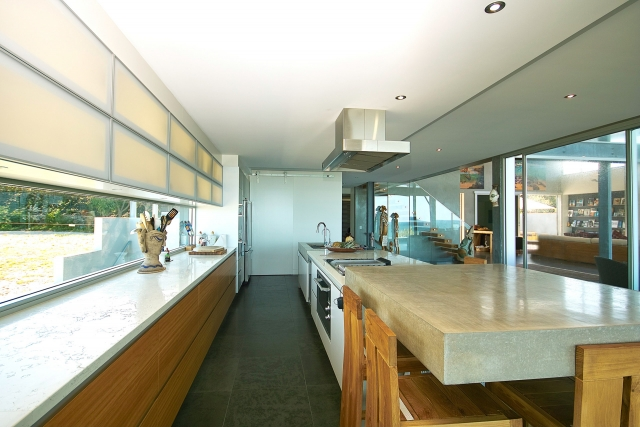 Kitchen, miele, interior, concrete island bench, marble tops, blum, Architectural, industrial, interiors, acrylic, minka joinery