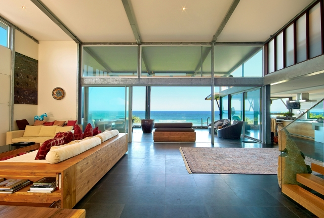 Architectural, industrial, interiors, beach house, spotted gum, acrylic, sunshine coast, minka joinery