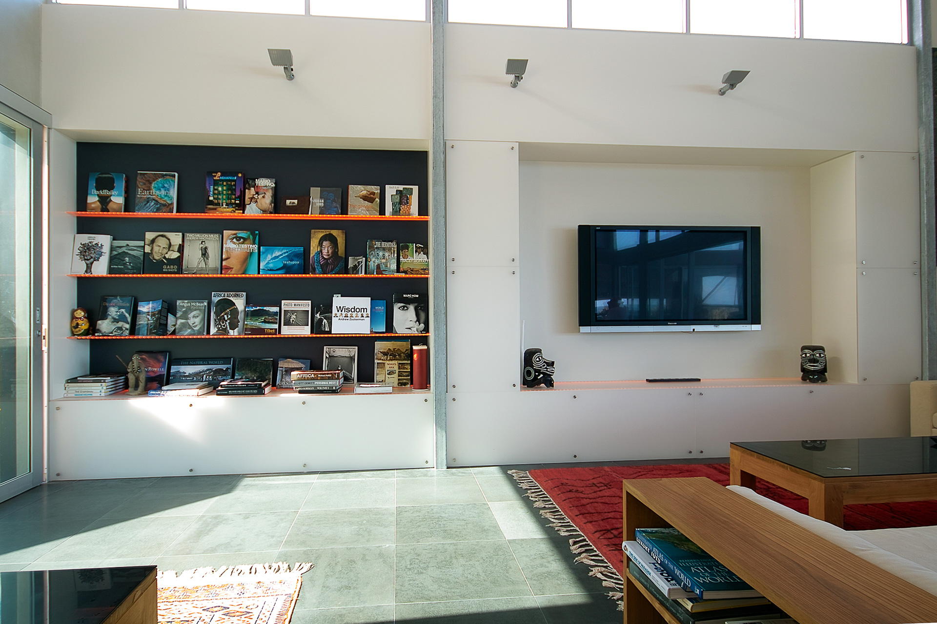 Home Library, Architectural, industrial, interiors, beach house, spotted gum, acrylic, beach views, sunshine coast, minka joinery