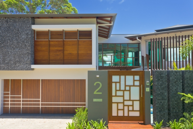 Resort Style Modern House, Timber, mosaic, sunshine coast, minka joinery