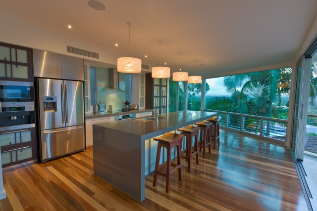kitchen, japanese kitchen, Resort Style Modern House, luxury interior, caesarstone, minka joinery