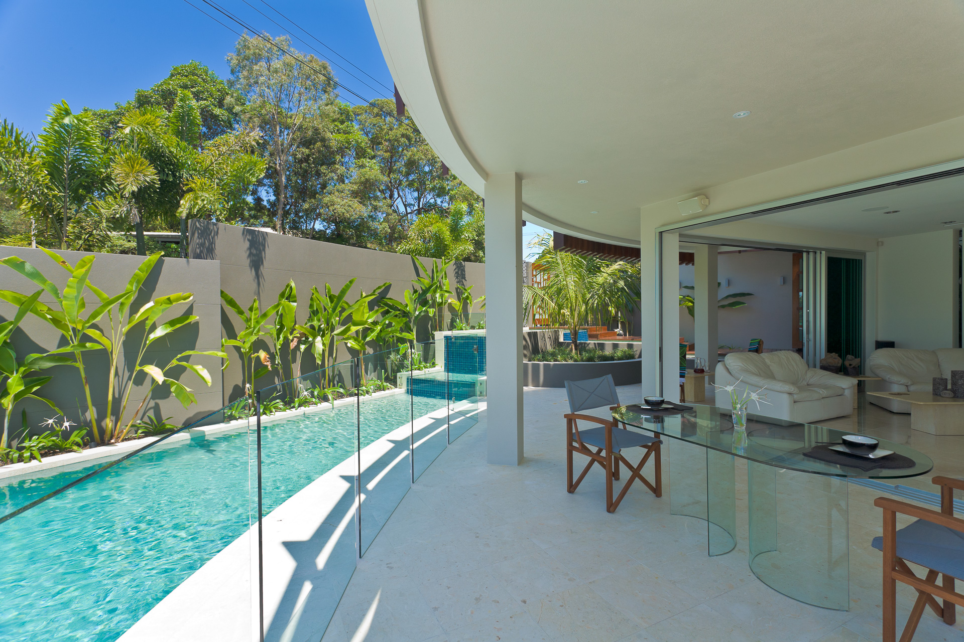 Resort Style Modern House, beach house, pool, chris clout, minka joinery