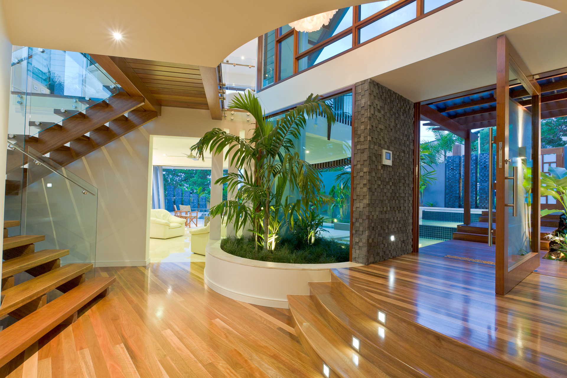 Resort Style Modern House, beach house, entry, chris clout, minka joinery
