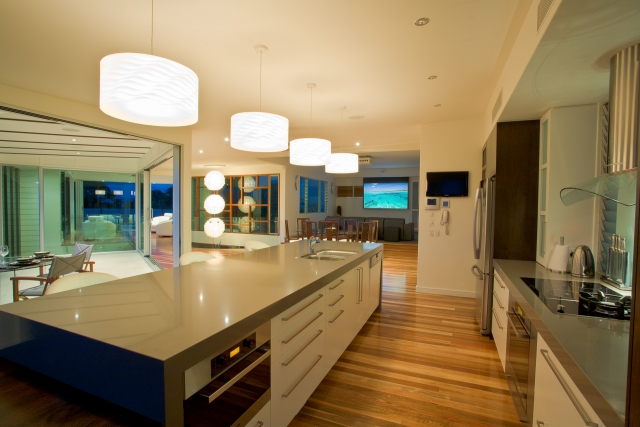 kitchen, 2 pack, glass, miele, japanese kitchen, Resort Style Modern House, luxury interior, caesarstone, minka joinery