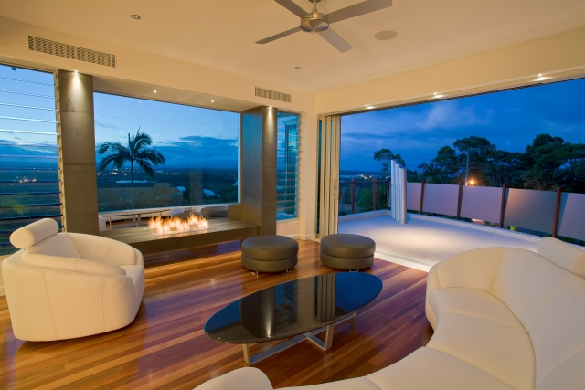 fireplace, lounge, views, luxury house, comfortable, minka joinery, chris clout