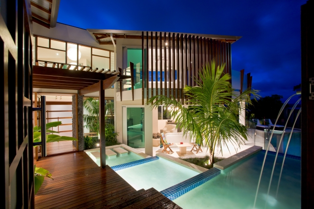 Resort Style Modern House, beach house, pool, sunshine coast, minka joinery